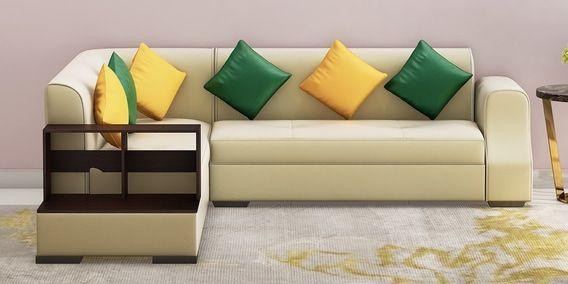 Fine Arlo Rhs Sectional Sofa In Beige Leatherette By Muebles Casa Inzonedesignstudio Interior Chair Design Inzonedesignstudiocom