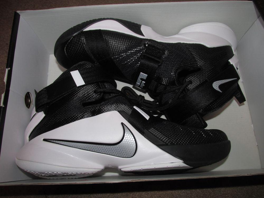 fde146330d54 Nike Lebron Soldier IX TB Mens Basketball Shoes 10 Black Silver White  749498 001  Nike  BasketballShoes