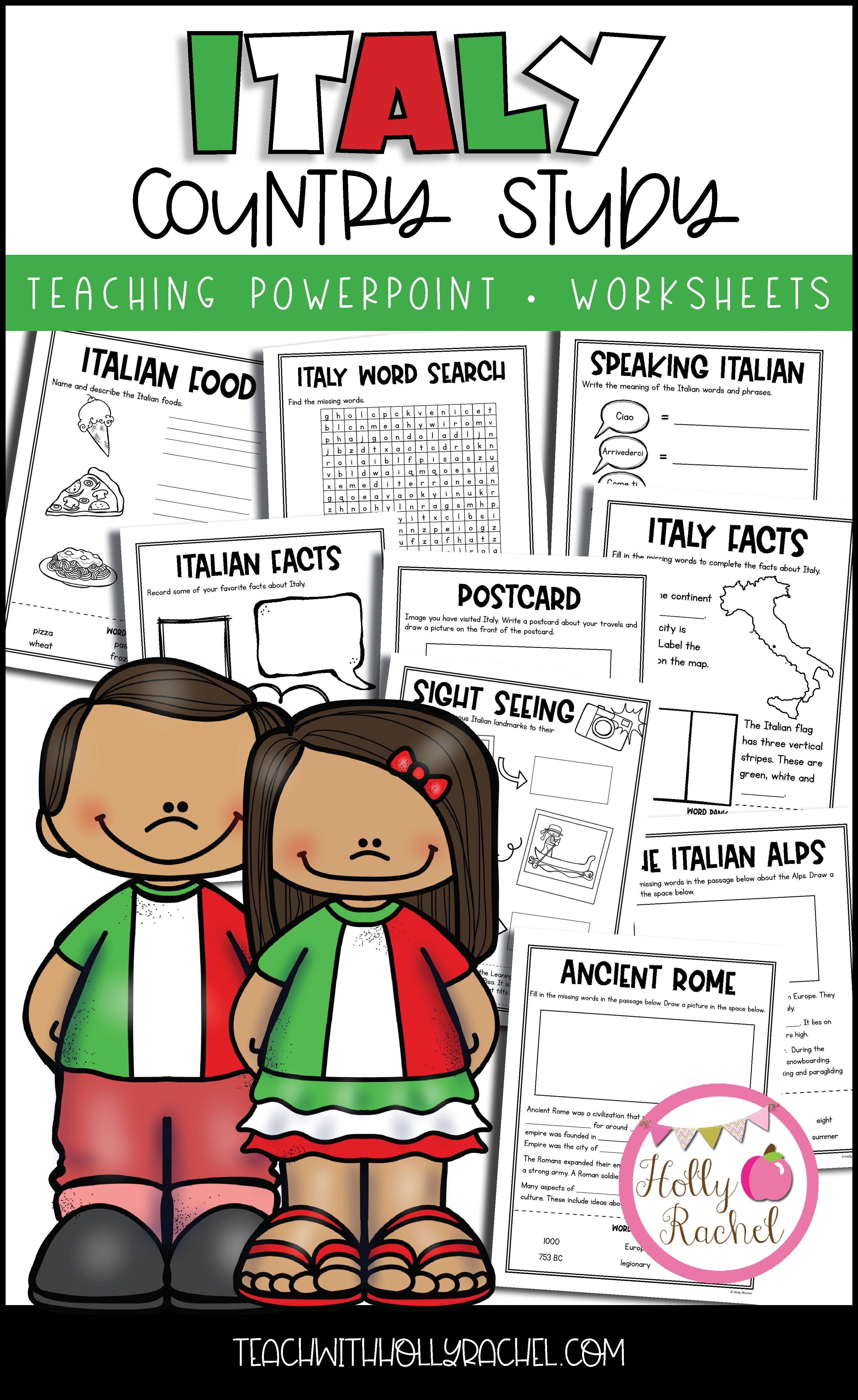 Worksheet Italy Landmarks