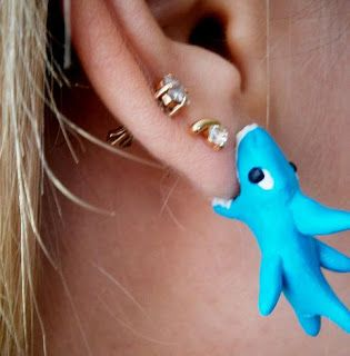 A Matter Of Style: DIY Fashion: 5 funny and creative fake gauge earrings