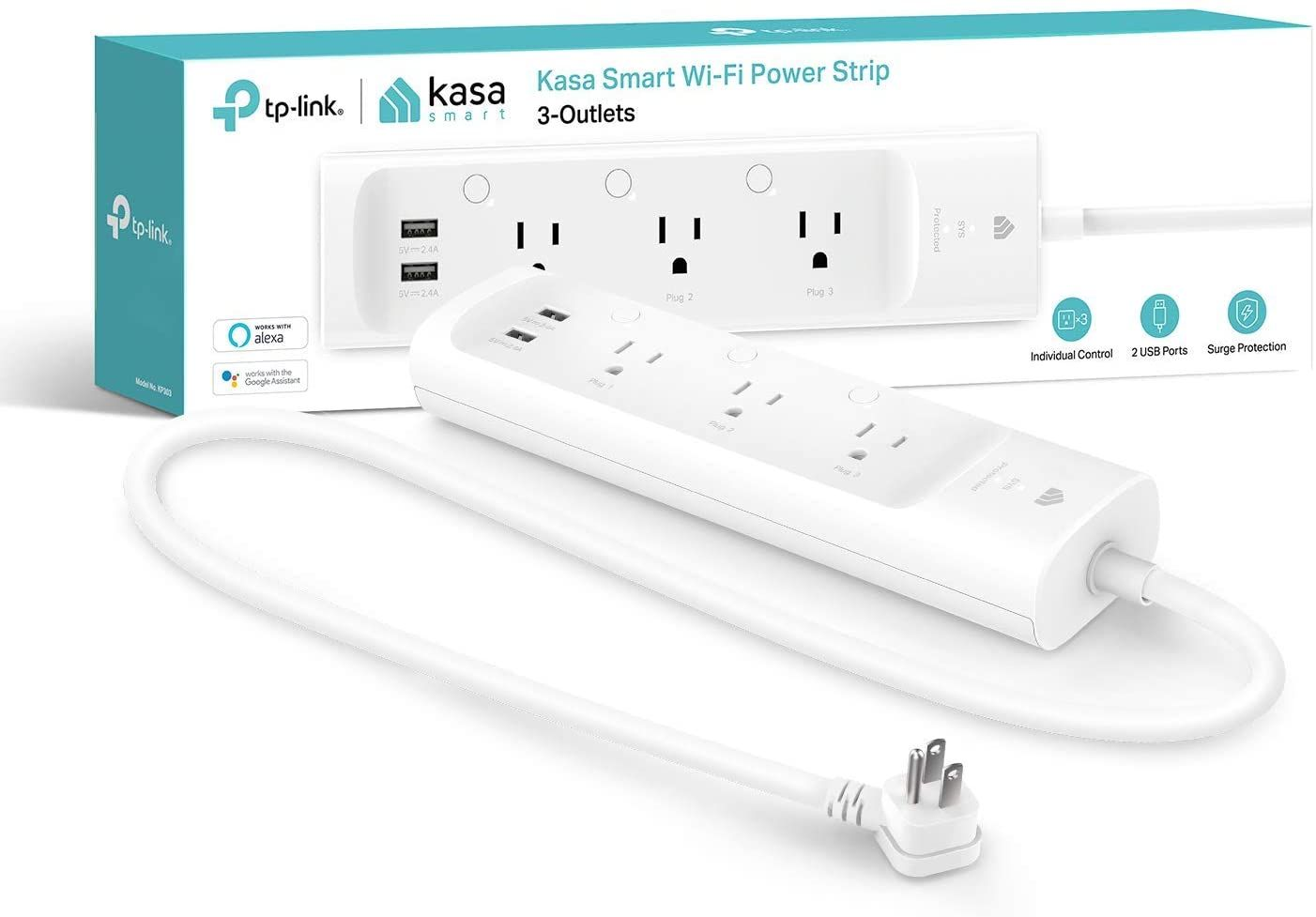 Reviews Of Majority People For Kasa Smart Plug Power Strip Surge Protector W 3 Smart Outlets And 2 Usb Ports Works With Al