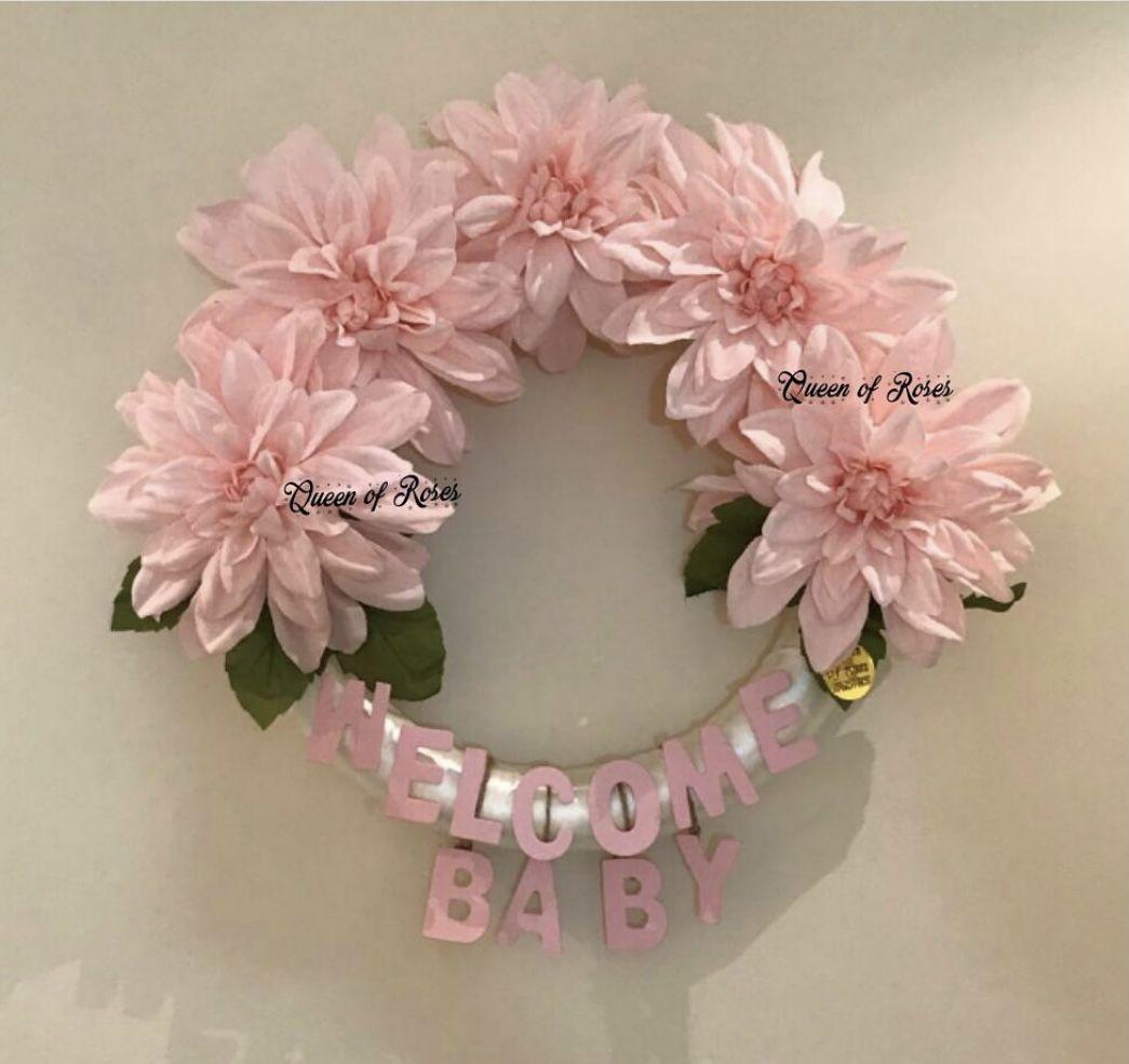 استقبال بيبي Floral Wreath Floral Wreaths