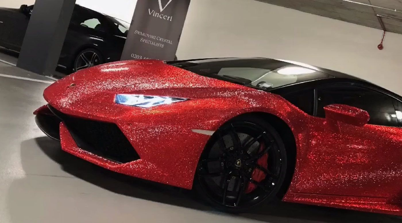 Lamborghini Huracan Embedded With 1.3 Million Swarovski Crystals