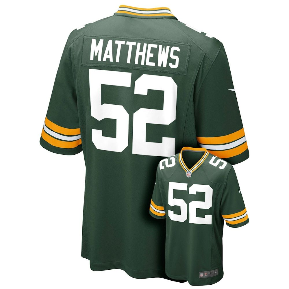a40b33e8 Boys 8-20 Nike Green Bay Packers Clay Matthews NFL Jersey, Boy's ...