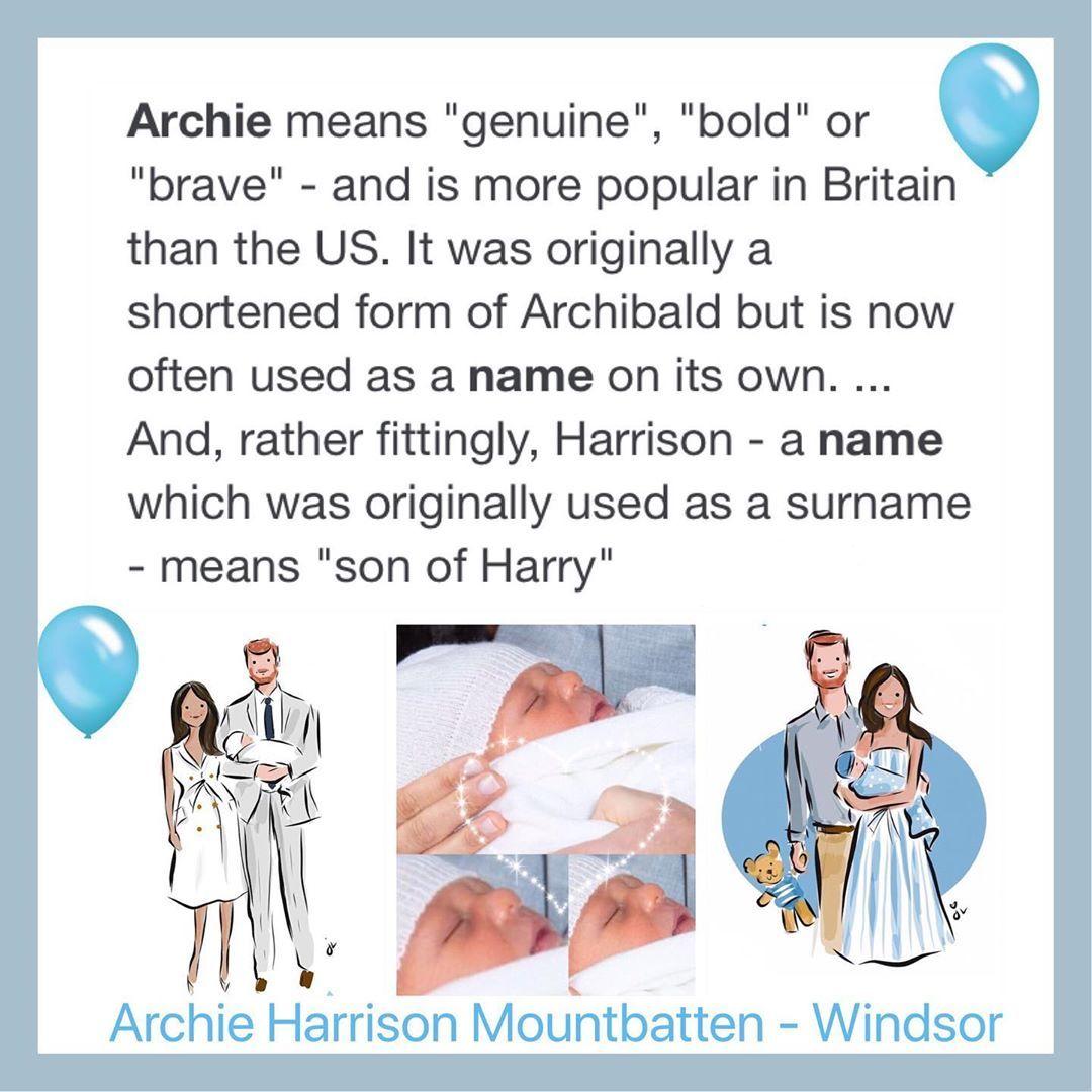 2019 Sussex Archieharrisonwindsor Archieharrisonwindsor Archie Sussex Baby Names