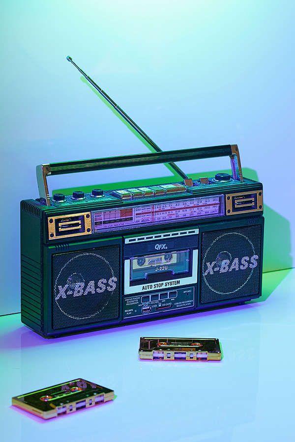Radio + Cassette + MP3 Boombox Boombox, Retro aesthetic