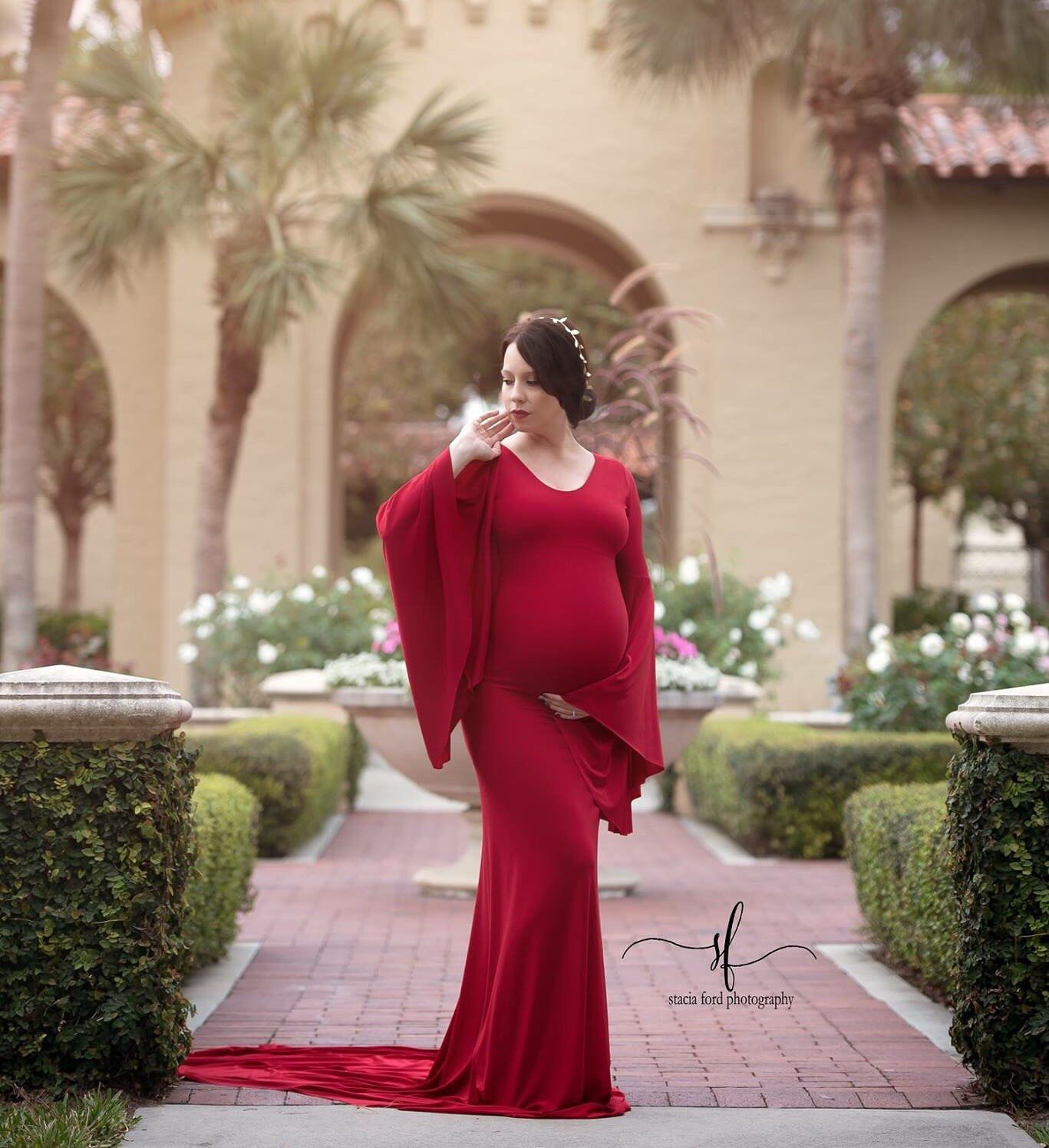 Thea maternity dress boat neckline long bell sleeves maternity thea maternity dress boat neckline long bell sleeves maternity photo prop dress red maternity gown long train ombrellifo Images