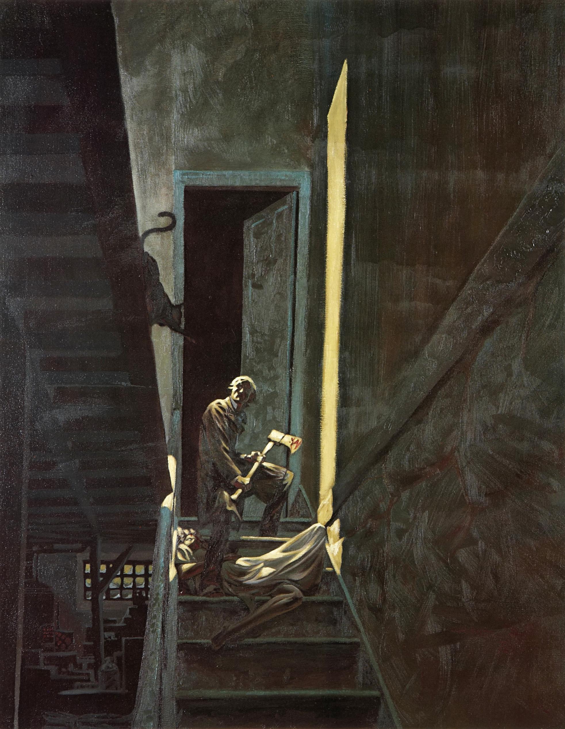 Berni Wrightson, The Black Cat, Edgar Allan Poe Bernie
