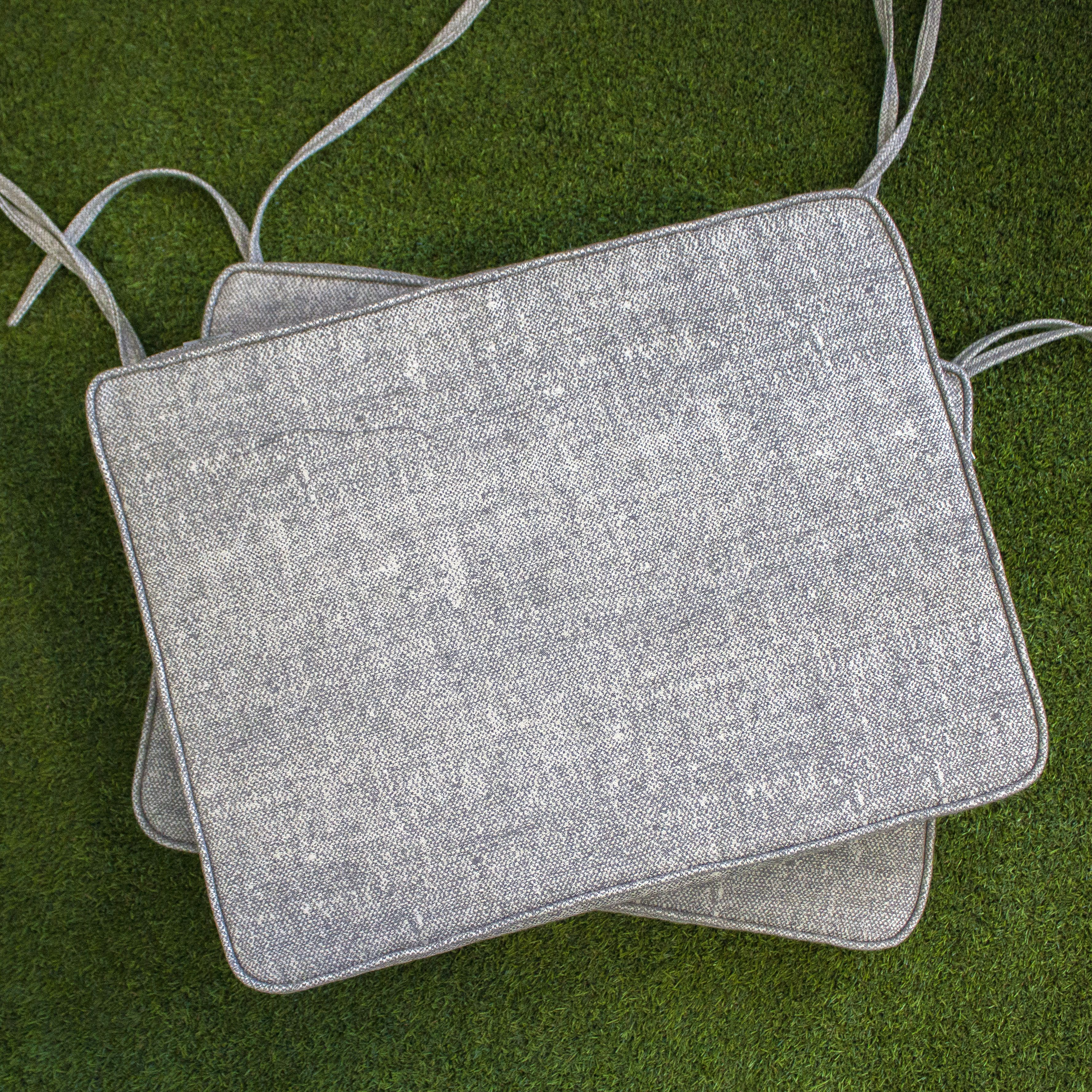 Custom Grey Outdoor Chair Cushions Made With Sunbrella