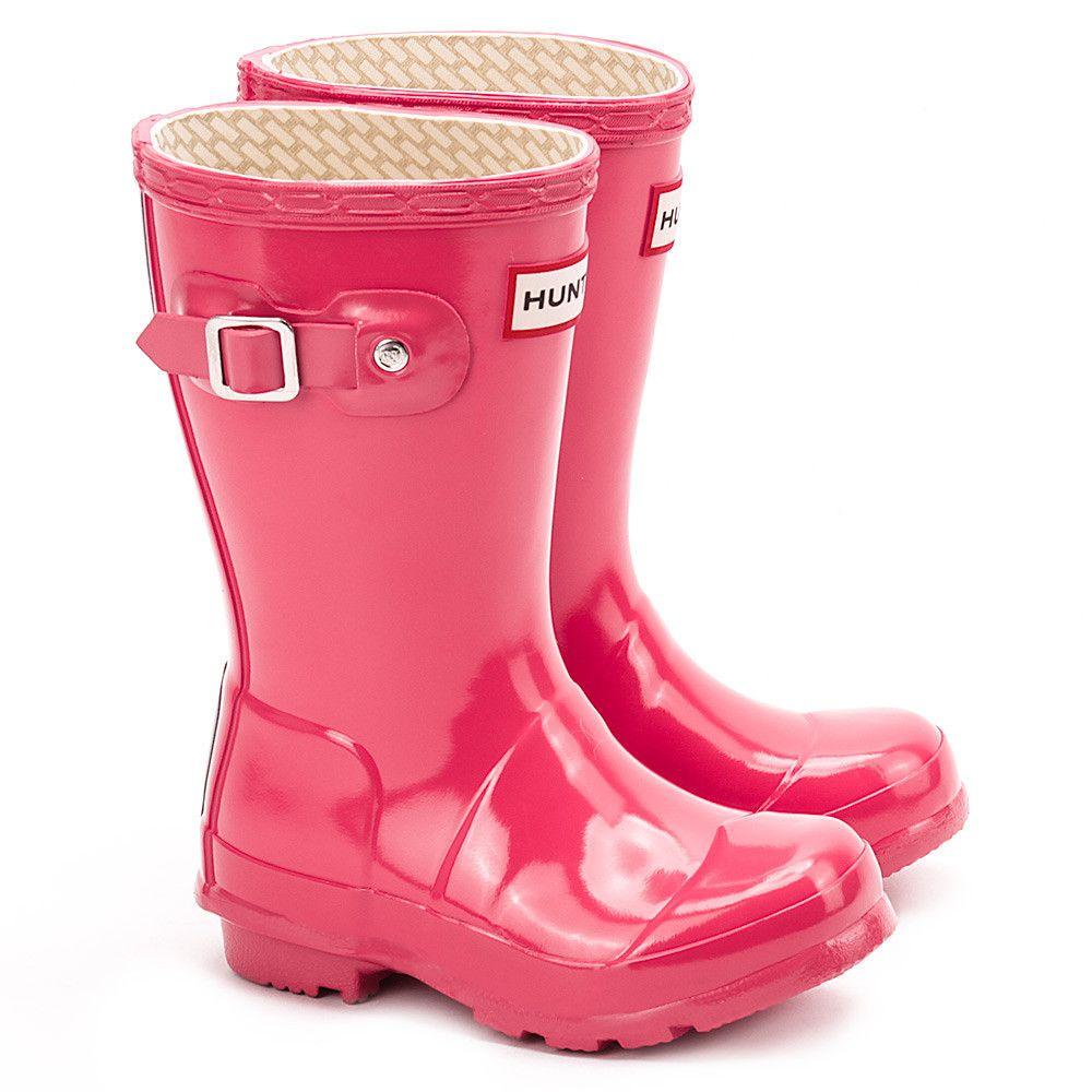 Hunter Original Kids Gloss Fuchsia Rozowe Lakierowane Kalosze Dzieciece W23991 W23991 Buty Dzieci Kalosze Mivo Hunter Boots Rain Boots Boots