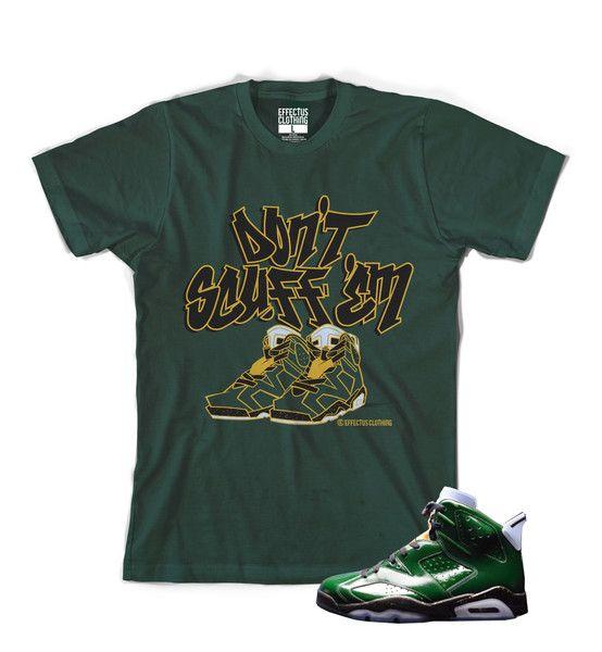 Shirt to match Champagne 6 Air Jordans.   Effectus Clothing