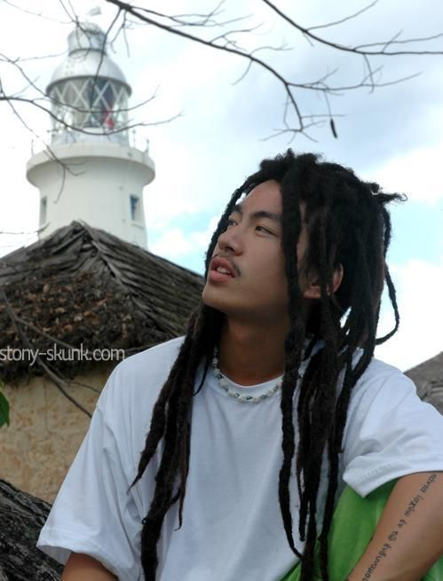 Japanese guy with Jamaican dredlocks | Yarn Braid and Dreads ...