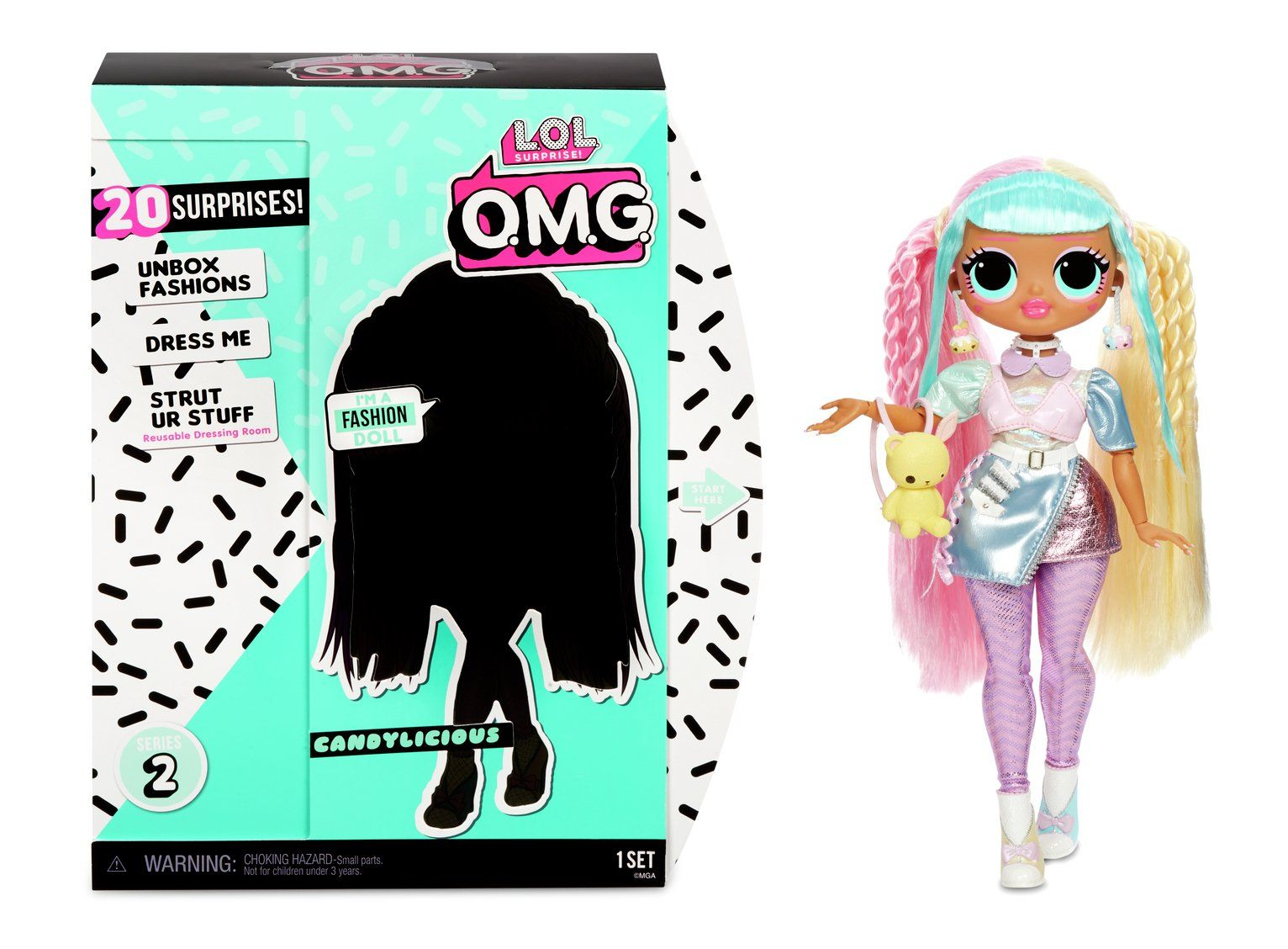 Lol Surprise Omg Candylicious Fashion Doll In 2020 Fashion Dolls Front Hair Styles Lol