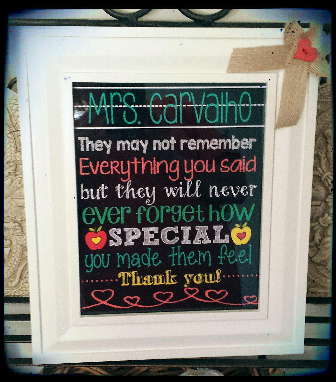 Teacher appreciation gift idea!