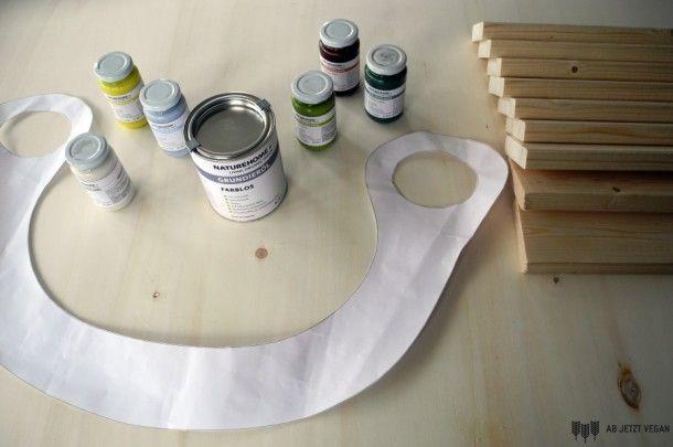 Material für eine regenbogenwippe, vorlage schon gespeichert unter ...