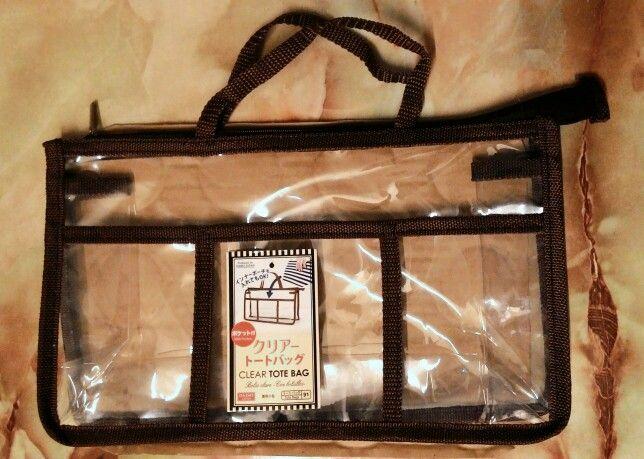 Clear Tote Bag Brown Daiso Japan Diy Bags Bags Clear Tote Bags