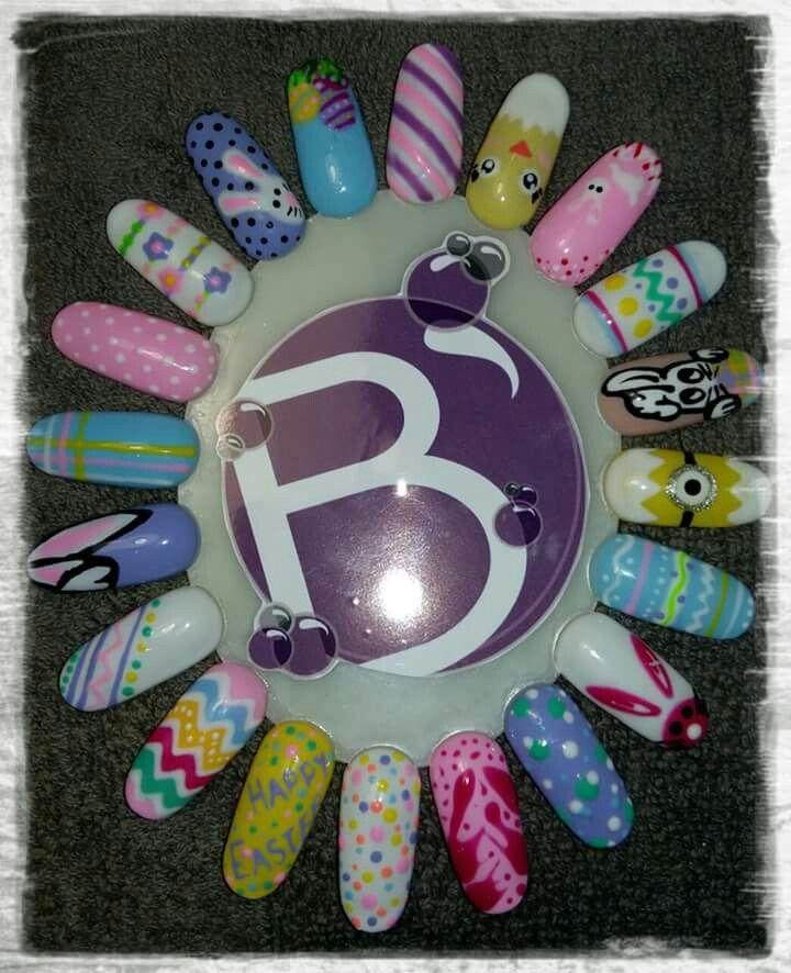 Easter nail art wheel @Bubz_NailBar | •°○Bubz Nail Bar ...