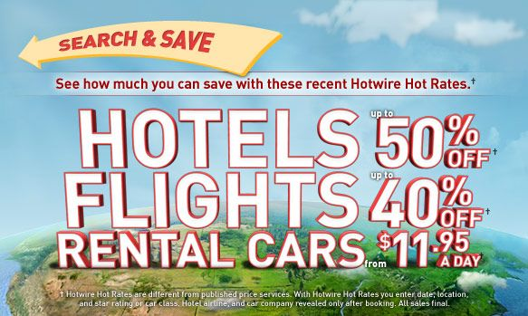 Choose from package deals already created or search your destination to pick and choose your flight and hotel. Keep an eye out for specially marked packages on sale and special offers too! Check out more great savings for Hotwire at narmaformcap.tk Deal Details: Use promo code FLYAWAY to save $50 on flight + hotel packages of $ or more. Minimum.