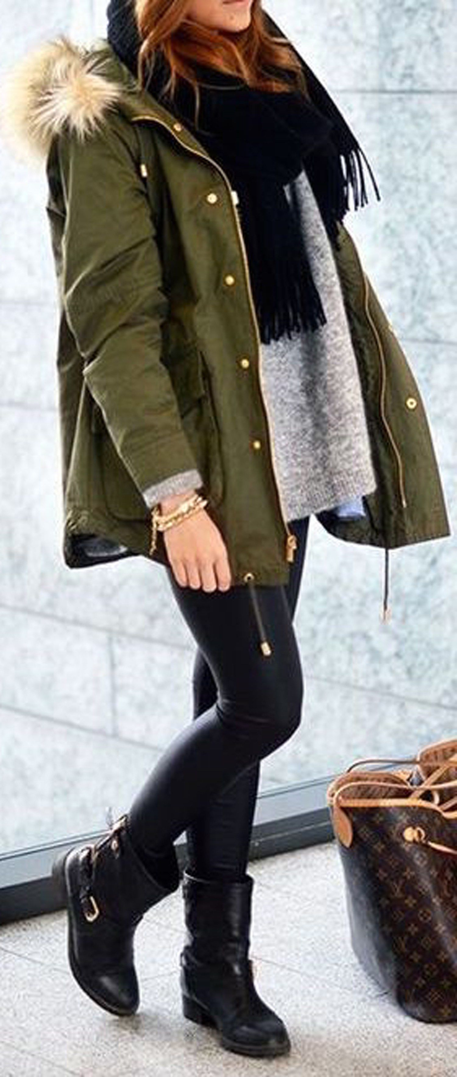 Cute comfy winter outfits ideas for school for teen girls for