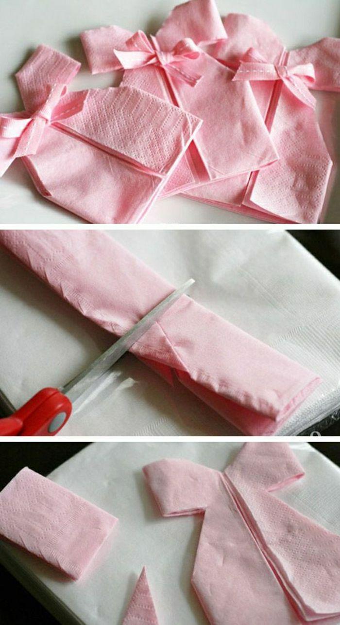 comment r aliser un pliage de serviette id es originales b b femme pinterest baby shower. Black Bedroom Furniture Sets. Home Design Ideas