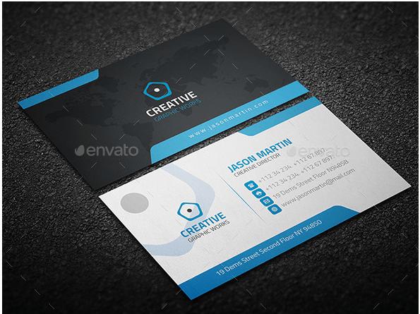 creative corporate business card design template design