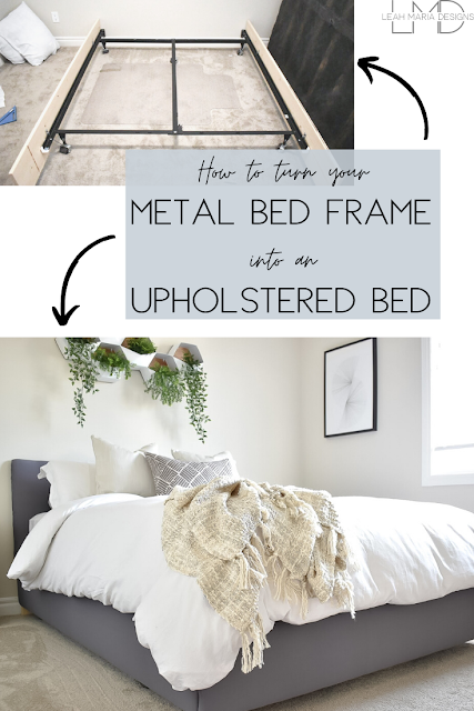 How To Turn A Metal Bed Frame Into An Upholstered Bed Cheap Bed Frame Metal Bed Frame Making A Bed Frame