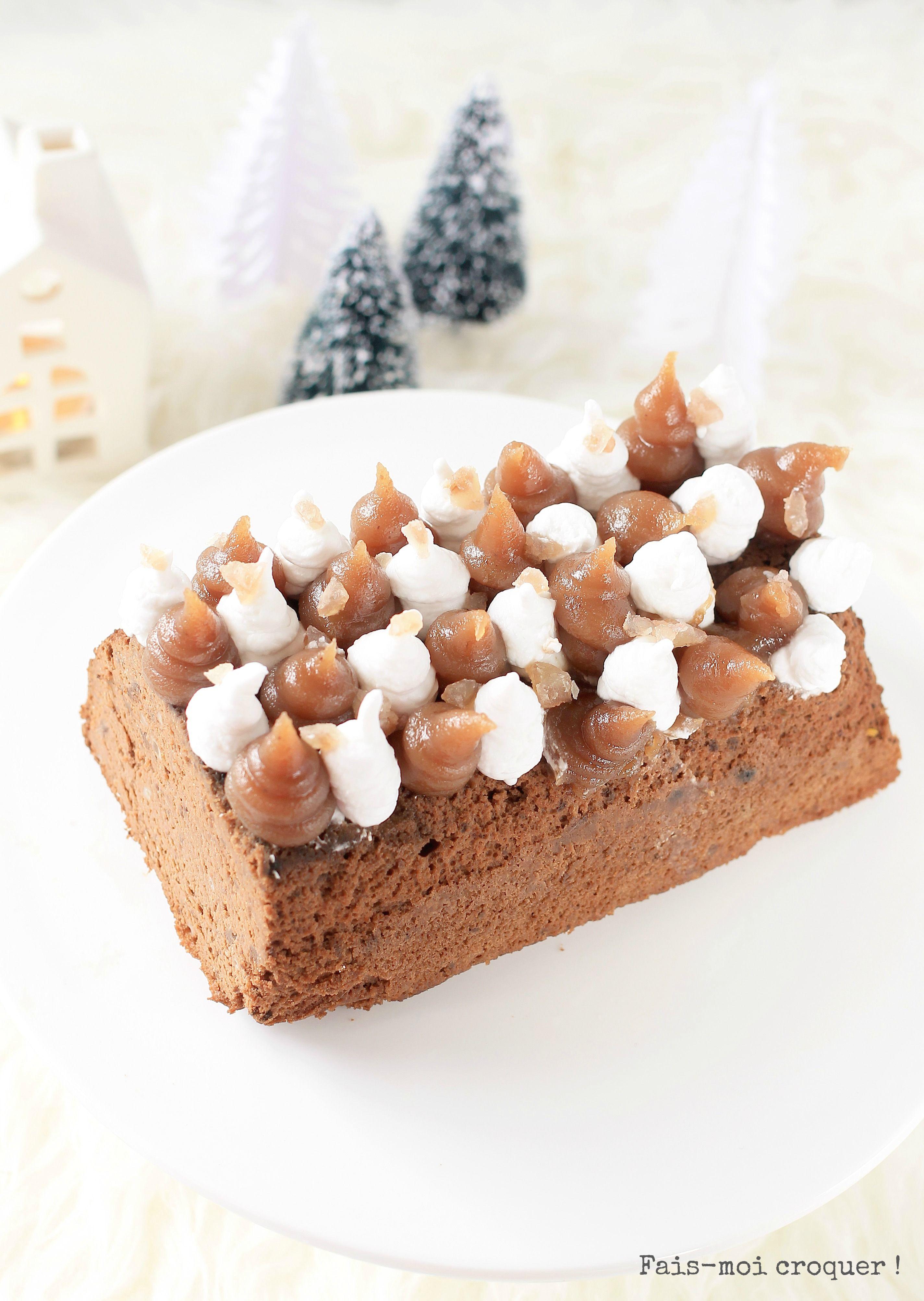 Buche marron chocolat sans farine