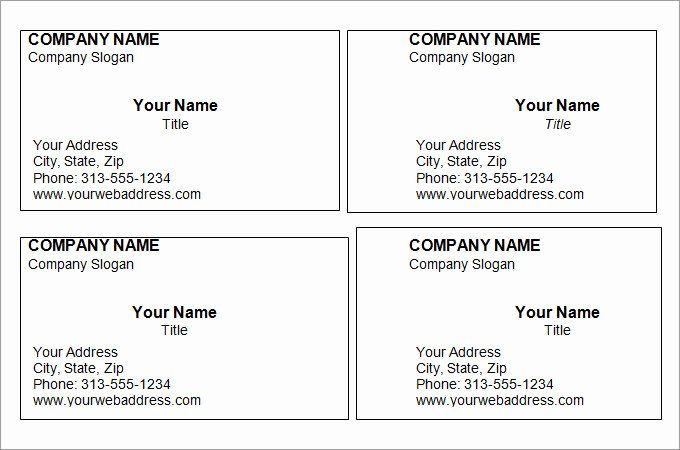 Blank Business Card Template Free Fresh 44 Free Blank Business Card Templa Free Printable Business Cards Business Card Template Word Business Card Template Psd