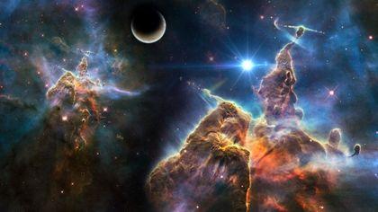Outer Space Pillars Of Creation Eagle Nebula 1920x1080 Wallpaper Art HD