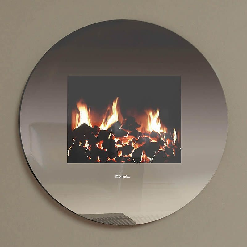 Wall Hung Electric Fire In Circular Mirror Love It All