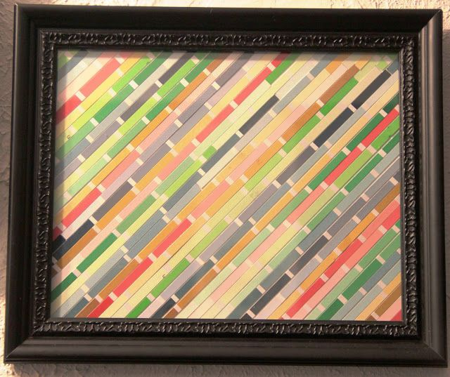 Easy Paint Chip Wall Art | It is super easy to make and you only ...