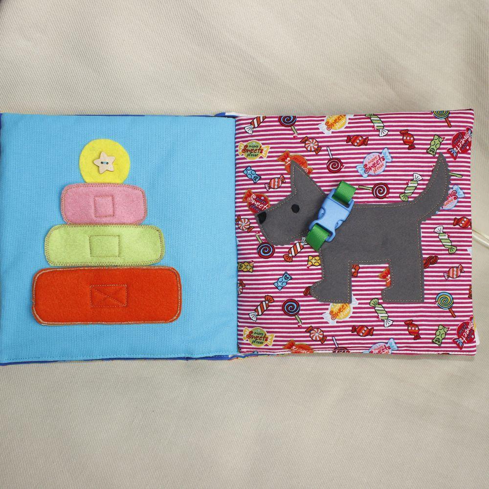 Très Grand livre d'éveil, Livre en tissu pour enfant, Montessori Plus  NG21