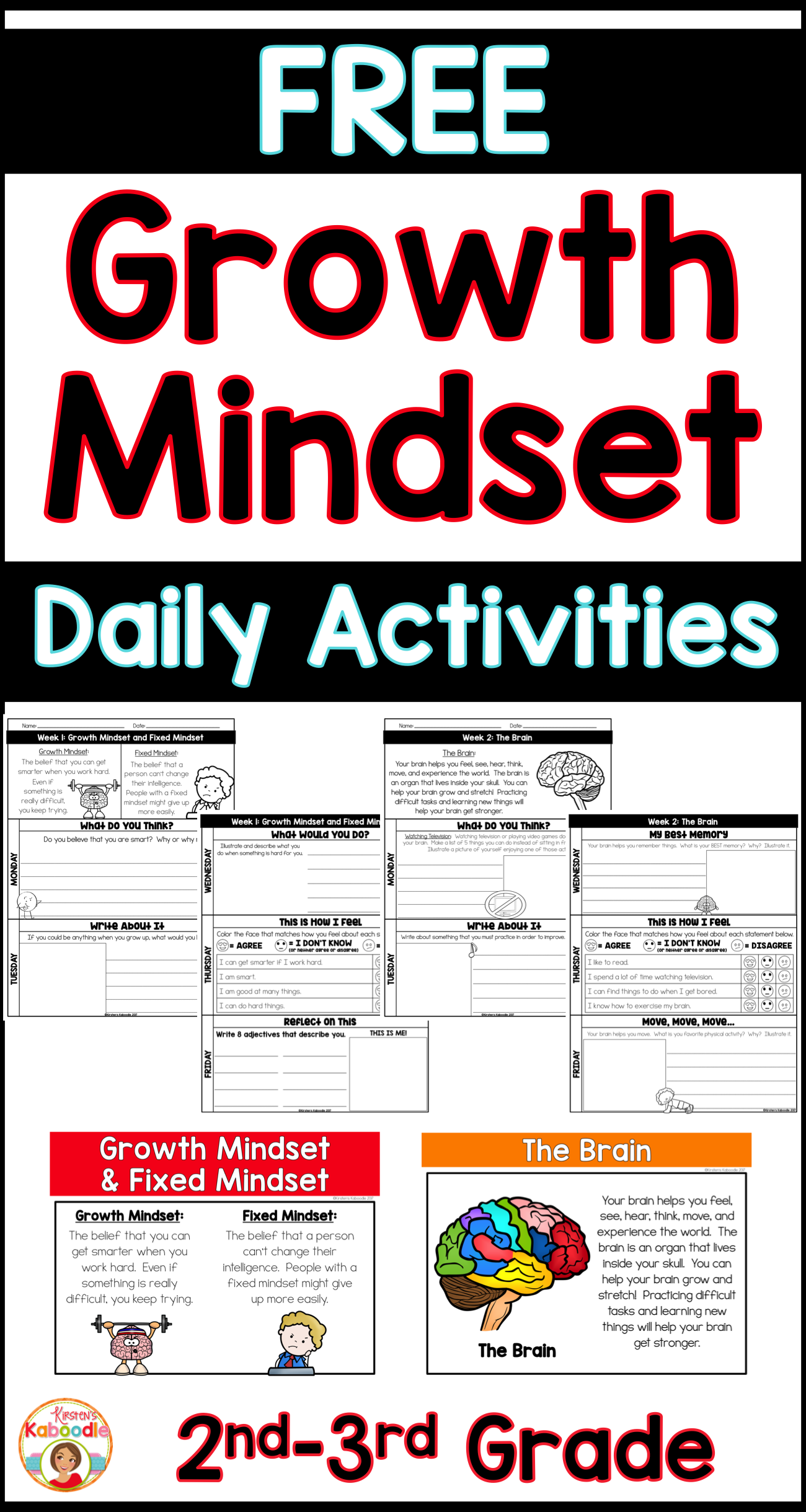 Growth Mindset Activities For Two Weeks
