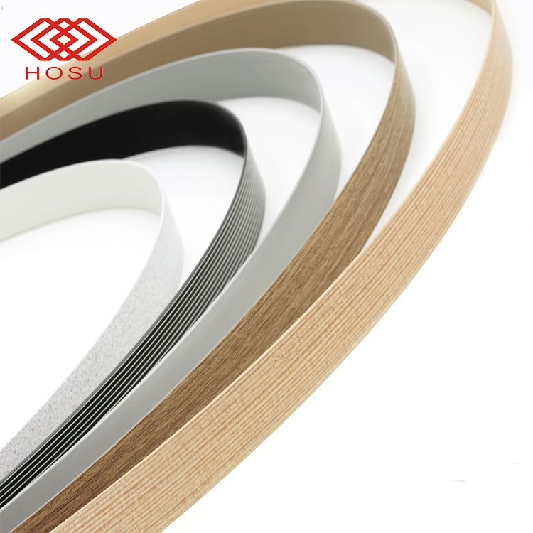 Pvc Edge Banding For Pvc Foam Board wood grain edge tape strips/trim