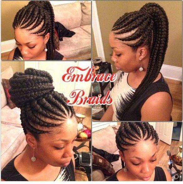 Ghana Braids Ghana Braids With Updo Straight Up Braids Braids Hairstyles For Hair Styles African Hairstyles African Braids Hairstyles