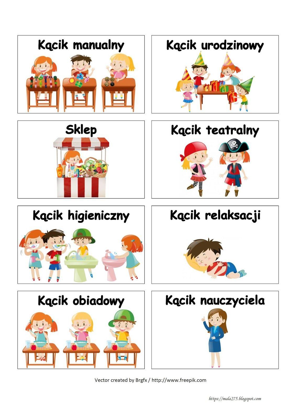 Blog Edukacyjny Dla Dzieci Wizytowki Do Kacikow Przedszkole Kids And Parenting Teacher Inspiration Education
