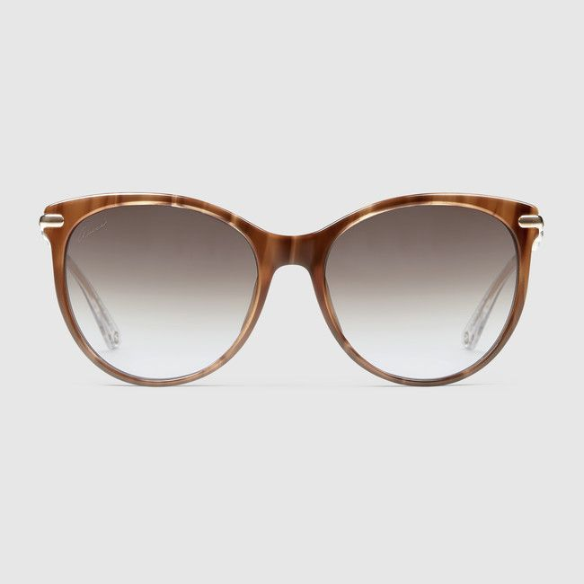 fced4805684 Gucci Style No  GG 3771 S Cat eye sunglasses with metal bamboo temples Red  Horn Acetate