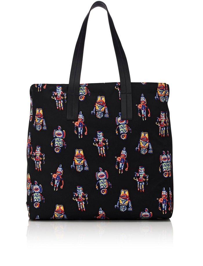 193dae33d475 PRADA Robot-Print Tote Bag. #prada #bags #leather #hand bags #tote ...