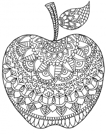 Coloriage Mandalas Coloring In 2020 Apple Coloring Pages Mandala Coloring Pages Coloring Pages