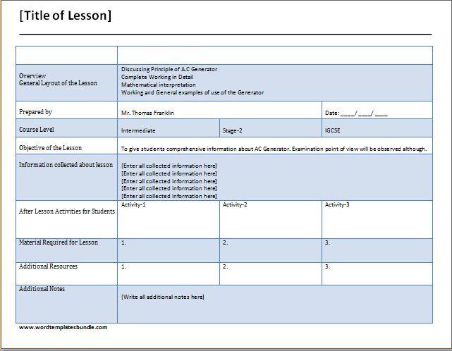 teacher checklist template