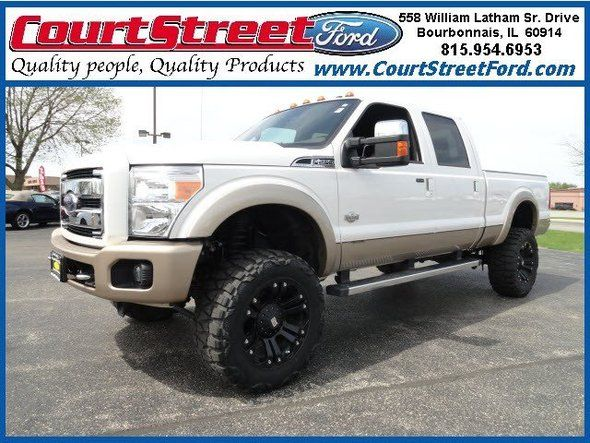Used 2012 Ford F 250 Lariat King Ranch White Crew Cab Pickup Near Bourbonnais Il Ford Trucks Ford King Ranch White Truck