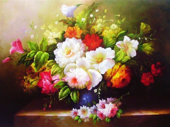 Flowers oil paintings oil painting pinterest for How to paint flowers with oil paint
