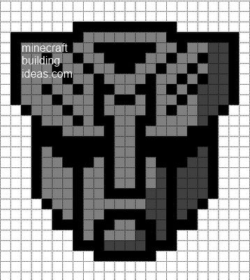 Transformers Pixel Art Templates Minecraft Pixel Art