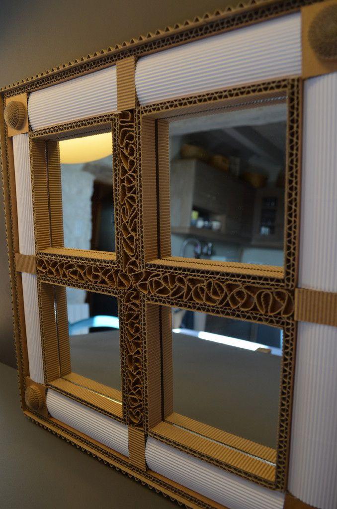 Miroir Original En Carton Avec Images Artisanat En Carton Cadre En Carton Art Carton