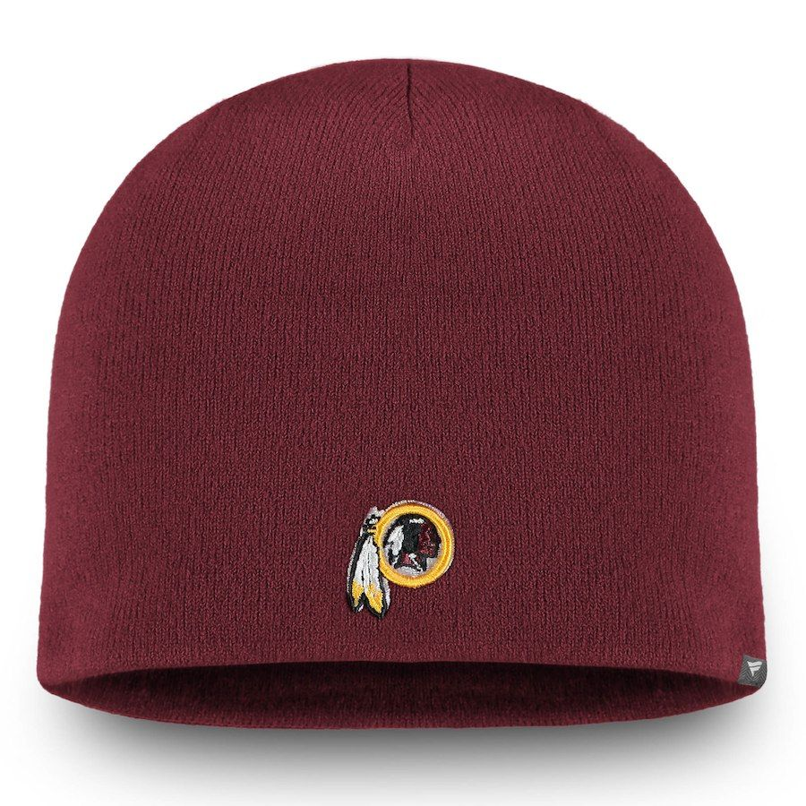 Men s Washington Redskins NFL Pro Line by Fanatics Branded Burgundy Core  Uncuffed II Knit Beanie 599380467