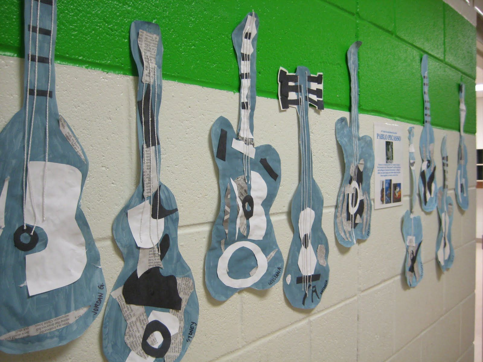 Picasso Style Blue Guitars