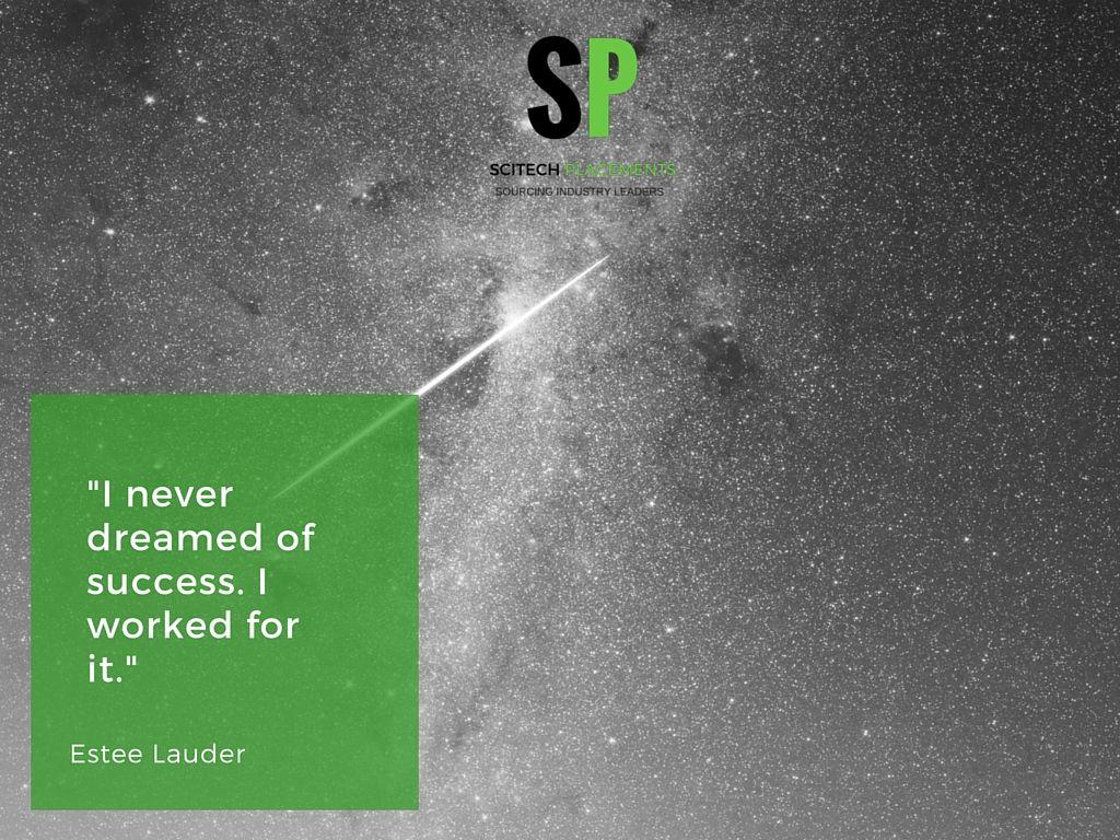 Work for success #SciTechspiration