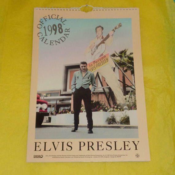 Rare Elvis Presley Official Danilo 1998 Calendar Music Elvis