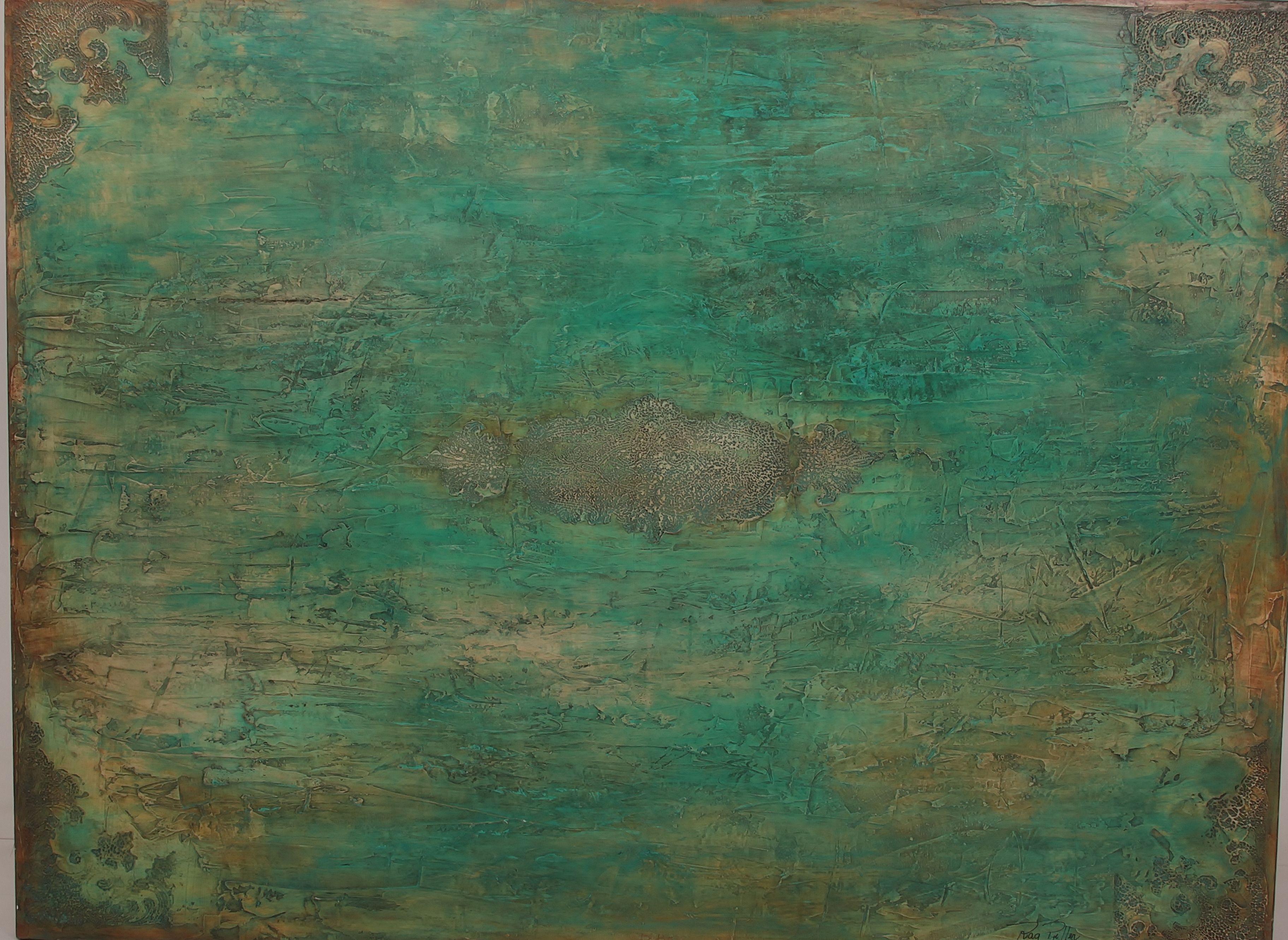 """""""Persa"""". Tela texturada em acrílica medindo 130x90. Raq Piffer. http://briochesartesplasticas.blogspot.com.br/"""