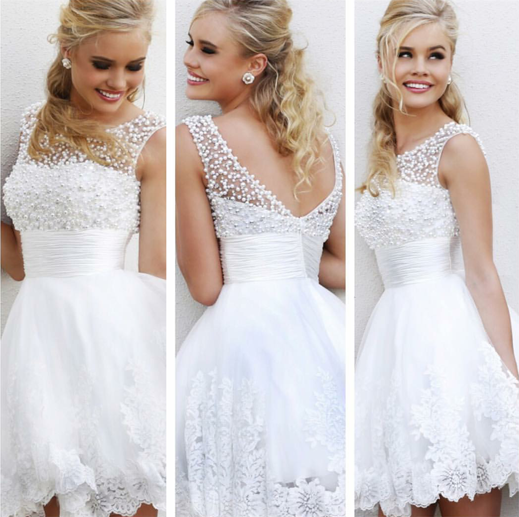Short Lace Wedding Dress on Luulla